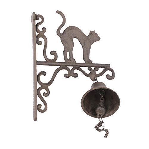 Vintage Bell Cast Iron Wandmontage Vintage Iron Bell Ornamenten Bent Back Cat Cast Iron deurbel Animal deurbel Wall Mounted Voordeur Bell voor Garden Farmhouse Yard