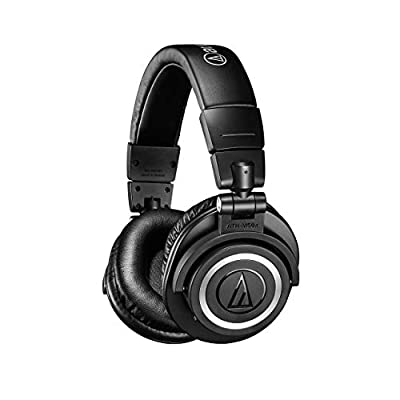 Audio-Technica ATH-M50XBT Wireless Over-Ear Portable Headphones - Black by audio-technica