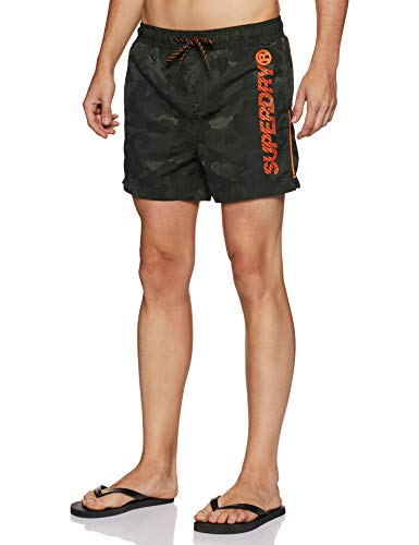 Superdry Herren Highline Swim Shorts, Multicolore (Seaweed Camo Jacquard Q2c), Medium