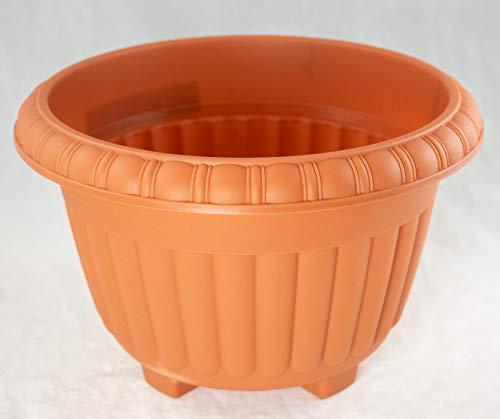 Japanese Plastic Bonsai Training Pot / Garden Planter 10.5'x 10.5'x 7' - Orange