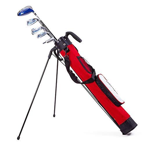 ZoSiP Golf Tasche Caddybags Golf Stand Bag, Leicht Einfach Carry Golf Sonntag Reisetasche mit Schulter, Praxis Ranger Sonntag Tasche for Frauen Männer (Color : Red, Size : 10x12.5x120cm)