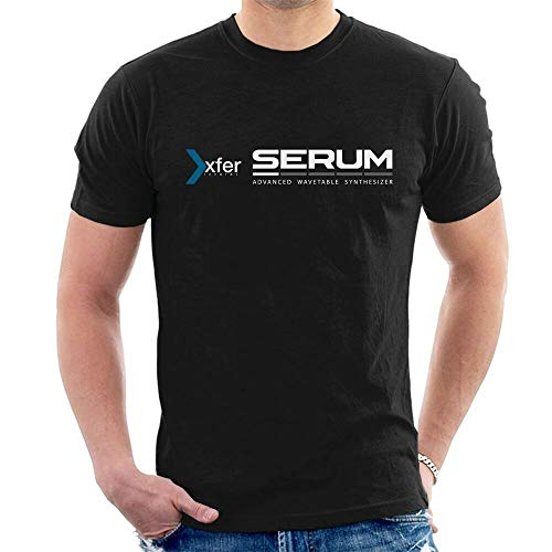 Xfer Serum Advanced Wavetable Synthesizer T-Shirt Graphic Top Printed Tee Shirt for Mens Black XL