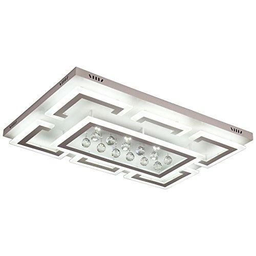 LED Deckenleuchte NXW803 75x50 mit Fernbedienung Lichtfarbe/Helligkeit einstellbar A+LED Wohnzimmerleuchte Kronleuchte Pendelleuchte Deckenlampe Deckenstrahler LED Deckenleuchte (XW803-75x50 cm, 70W)