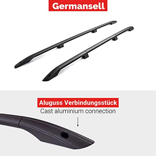 VW Caddy Maxi from Year 2007 Roof Rails Roof in Black with Tüv and ABE