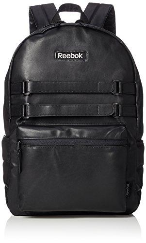 [リーボック] リュック メンズ レディース 大容量 リュックサック フェイクレザー PUレザー 15l a4サイズ 通学 通勤 旅行バッグ ブランド 軽量 ロゴ ARB1012 ブラック F
