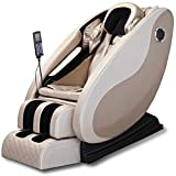 Nager Deep V Floating Thai Stretching Zero Gravity Design Massage Chair with High-Fidelity Bluetooth Speaker,Multidimensional Airbag Massage for Full Body Massage Chair, Luxurious Gold