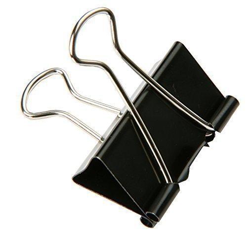 SBS® Binder Clips | 51 mm | 15 Stück | Metallklammern | Büroklammern | Papierhalter
