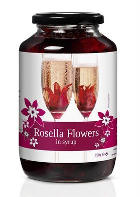 Rosella Flowers - Wild Hibiscus in Sirup Hibiskusblüten - 750g