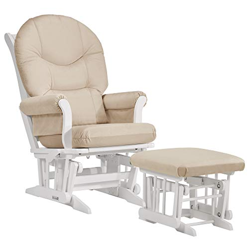 Dutailier Sleigh 0371 Glider Multiposition-Lock Recline with Ottoman Included