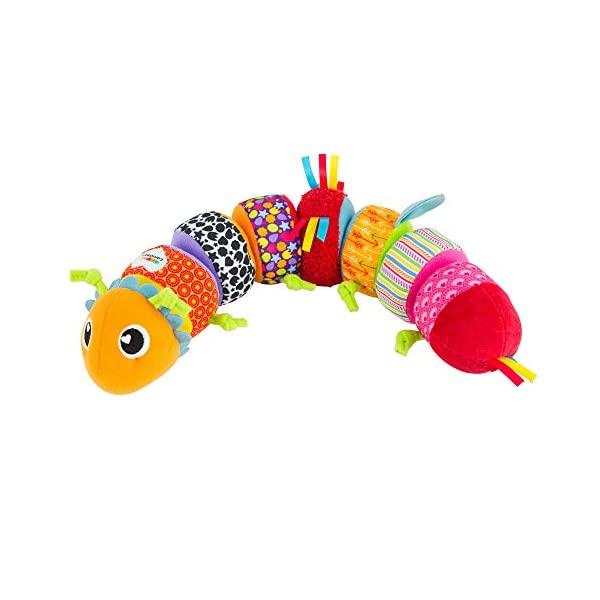 LAMAZE – Mix and Match Caterpillar Soft Toy, Get Baby Playing with Colors, Sounds, Matching and Puzzles with Bold Colors, Playful Patterns, Crinkly Sounds and Detachable Segments, 6 Months and Older