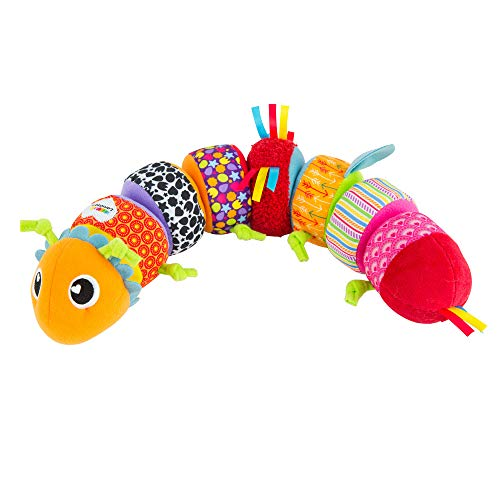 LAMAZE - Mix and Match Caterpillar Soft Toy, Get Baby Playing with Colors, Sounds, Matching and Puzzles with Bold Colors, Playful Patterns, Crinkly Sounds and Detachable Segments, 6 Months and Older