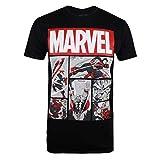 Marvel Heroes Comics T-Shirt, Noir (Black Blk), (Taille Fabricant: Medium) Homme