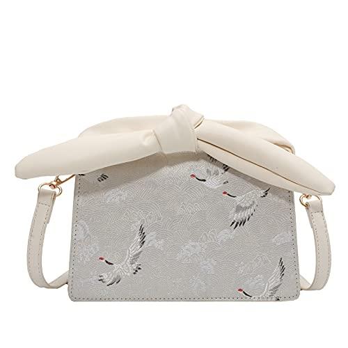 QIANJINGCQ Borsa messenger tutto-fiammifero stampa personalità piccola borsa quadrata temperamento moda tracolla donna zaino texture fresca e semplice