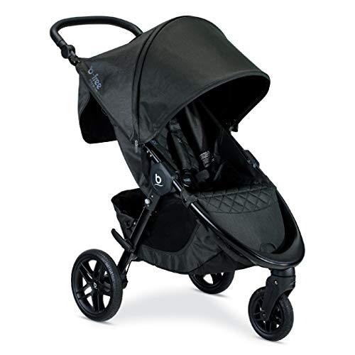 Britax B-Free Premium Stroller | Nanotex Stain Resistant Fabric - Adjustable Handlebar - Easy One-Hand Fold - Includes Car Seat Adapters for Britax, Maxi Cosi, Cybex and Nuna - Black Shimmer