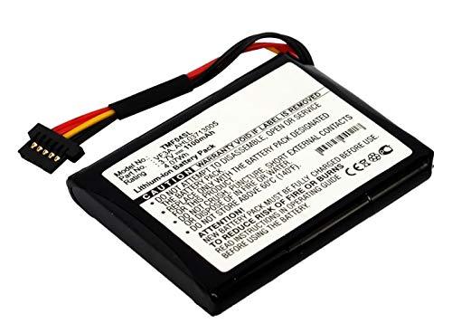 subtel® Batería compatible con TomTom 4EL0.001.01 Via 120 Live Western Europe XL 340M Live XL 340TM Live XL Live XL Live TTS 4EL0.017.01 GO 820, AHL03710403 AHL03713005 VF3A VF3M 1100mAh pila repuesto
