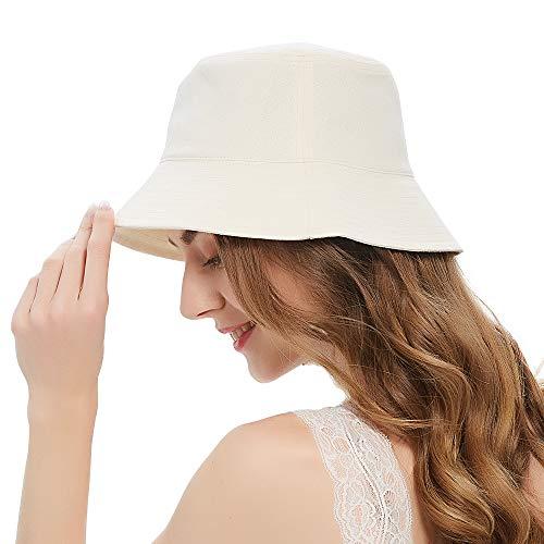 Bucket Hats for Women,Summer Travel Beach Sun Hat Outdoor Cap,Packable Teens Girls Bucket Hat UPF 50+