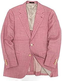 [マッキントッシュロンドン] 日本製 リネン混 カラーブッチャー 無地 シングル 2B テーラードジャケット ブレザー ピンク