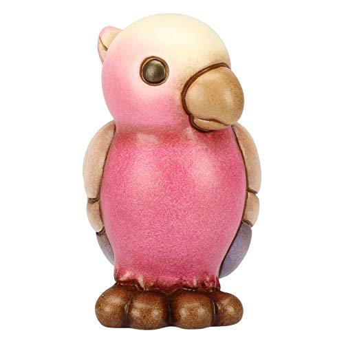 THUN - Pappagallo Rosa - Formato Piccolo - Ceramica - 8,5 cm h