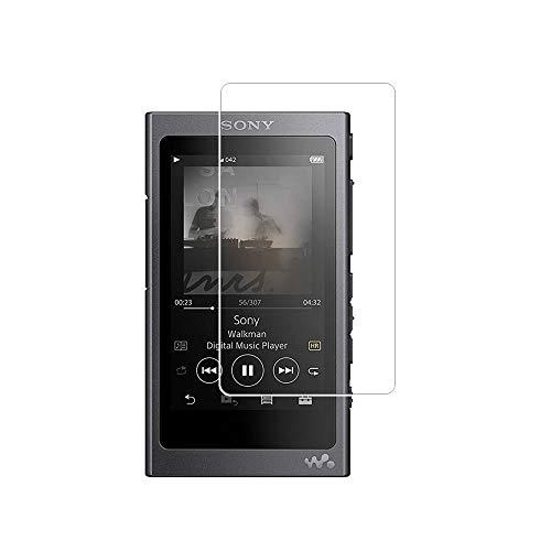Zshion Bildschirmschutzfolie für Sony NW-A55 / NW-A56, Festigkeitgrad 9H, gehärtetes Glas, Bildschirmschutzfolie für Sony A55 / A56, blasenfrei, kristallklar, 2 Stück