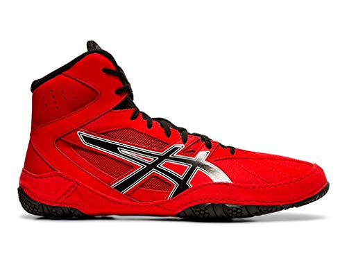 ASICS Men's Matcontrol Wrestling Shoes, 9M, Classic RED/Black