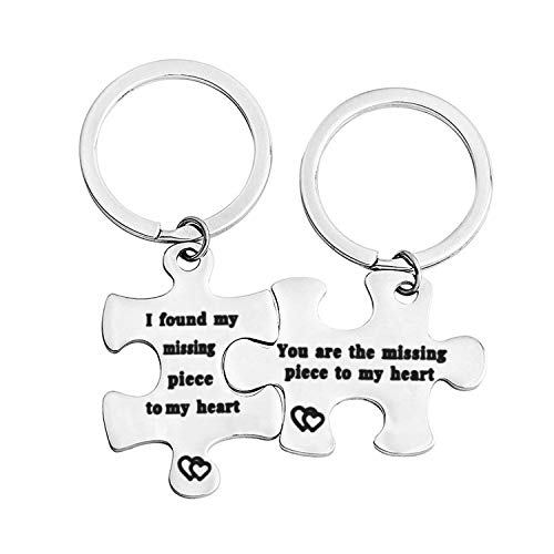 WUSUANED You Are My Missing Piece Puzzle Piece Keychain Gift for Couple Best friend