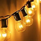Zidwzidwei Catena Luminosa Lampadine, 25 foots Impermeabile G40 Lampada da Giardino per Es...