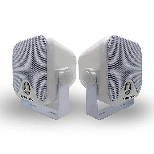 Marine Box Lautsprecher wasserdichte Stereo Boot Lautsprecher Wandmontage 2 Way 100 W Weiß Farbe IP66 4 Zoll