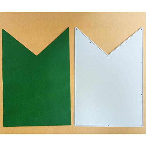 Doe-het-zelf stansvorm Stirbanner Label Frame Metaal Stansvormen sjabloon voor doe-het-zelf scrapbooking papier kaart, reliëf handwerk voorhoofd