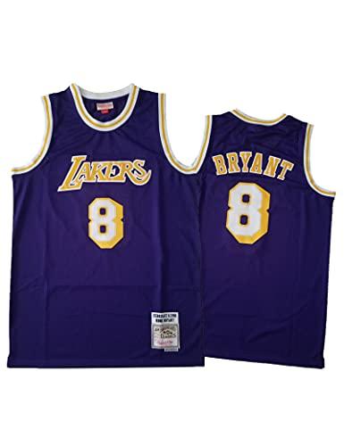 Kfdfns Camiseta de la NBA para Hombre Los Angeles Lakers # 8 Kobe Bean Bryant Ropa de Entrenamiento de Baloncesto Sudaderas Camiseta sin Mangas Transpirable Chaleco Top