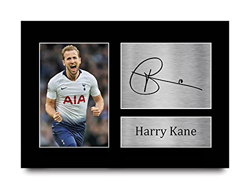 HWC Trading Harry Kane Gift Signed A4 Printed Autograph Tottenham Gifts...