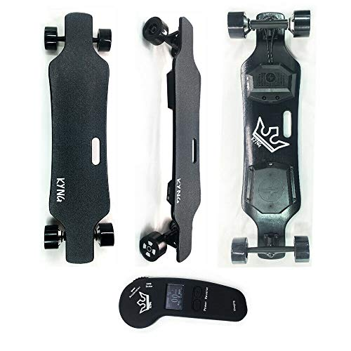 KYNG 38' Electric Skateboard Longboard with Wireless LCD Remote, Youth and Adults 23 MPH, 900W Dual...