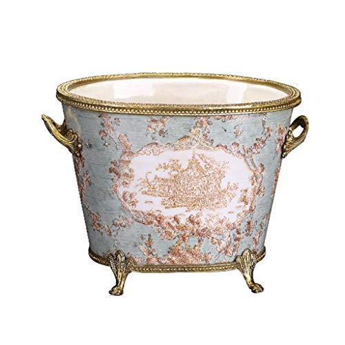 GWM Keramik Weinflasche, Kreative Und Exquisite Porzellan Traditionellen Chinesischen Dekorativen Weinfass, Europäischen Keramik Wohnaccessoires Wohnzimmer Couchtisch Esstisch Fass Lagerung Ornamente