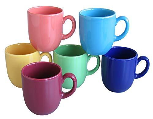 Creatable Kaffeebecher Set 6 teilig, Steingut, mehrfarbig, Einheiten