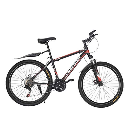 Tengma Junior Aluminum Full Suspension Mountain Bike, Stone Mountain 26 inch 21-Speed ​​Bicycle,Lightweight,Mens/Womens Student Hybrid Road Bike Shipping from The United States