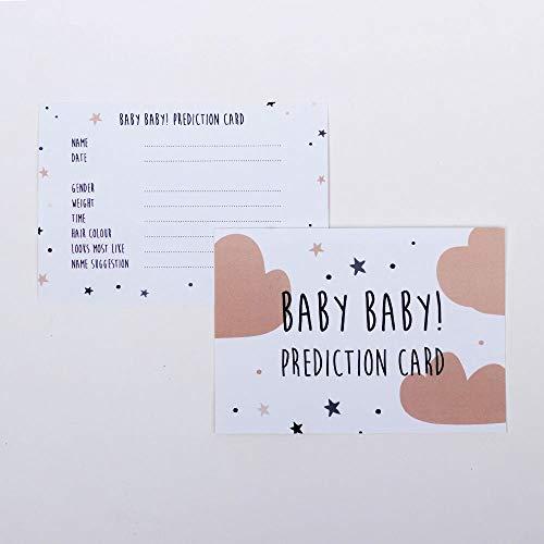 Luck and Luck Lot de 6 Cartes de prédication pour bébé Motif Nuages et étoiles Pêche