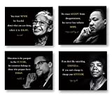 1.Black History Month Decoration (4 powerful black history posters) set includes Martin Luther King Poster, Malcolm X Poster,Rosa Park and Maya Angelou Art Poster 2. The perfect gift-as a historical decoration for the classroom in the school, game ro...