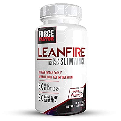 LeanFire with Next-Gen SLIMVANCE, Advanced Thermogenic Fat Burner, Elevate Energy & Endurance, Enhance Focus & Mental Clarity, Force Factor, 60 Tablets