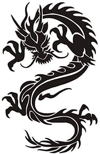 Drachen Symbole Der Tugend Kraft Tier Wandaufkleber Schlafzimmer Dekoration Abnehmbare Vinyl Tapete Aufkleber