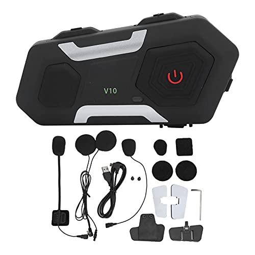 Mxzzand Casco Walkie Talkie Compatibilidad con Auriculares Bluetooth 10 Emparejamiento Operaciones con teléfonos móviles Batería de Gran Capacidad Conveniente para Conducir Comunicación Directa