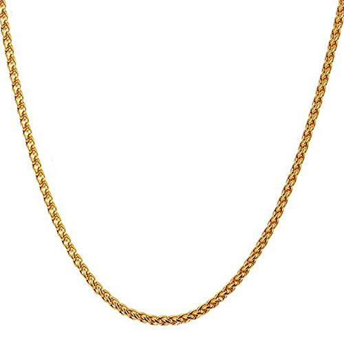 Beydodo Collar Cadena Hombre Acero Inoxidable Cadena Spiga 3mm Collares Cadenas Hombre Collar Cadena Oro Hombre 61cm