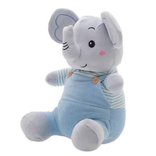 Fran Elefante, Zip, Azul Bebê