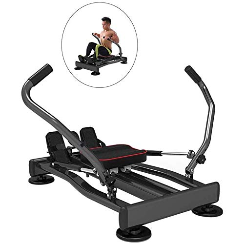 Best Bargain LQRYJDZ Compact Folding Rowing Machine,LCD Monitor, Back Workout, Xtreme Fitness, Lose ...