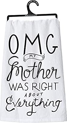 The OMG Mom Tea Towel Primitives By Kathy