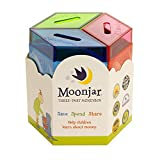 Moonjar Classic Save Spend Share 3-Part Tin Moneybox Bank