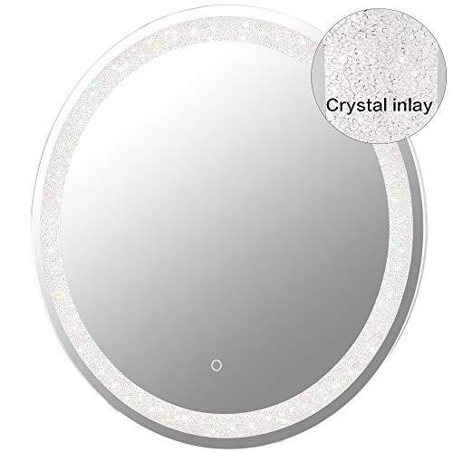 MAGGIIC 30 INCH Round LED Bathroom Light Vanity Mirrors Anti-Fog+IP44 Waterproof +CRI>90+UL Listed