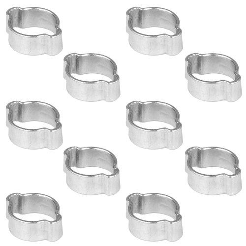 10 Stück 2-Ohr Schellen, Druckluftschellen, Schlauchschellen, Bierschlauchschellen, 11-13 mm
