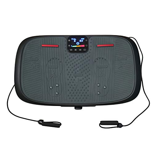 AsVIVA Vibrationsplatte V12 4D Pro mit 3 energieeffizienten Motoren, Bluetooth, Magnetfeldtherapie Massage, Curved Design, horizontale, vertikale, oszillierende Vibrationstechnik