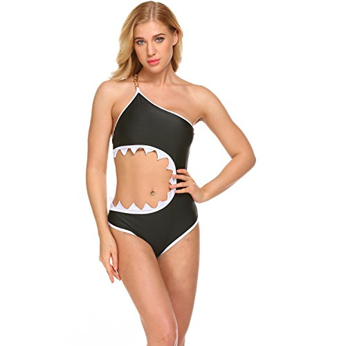 COSYOU Women's One Piece Shark's Mouth Swimsuit Swimwear Bikini Beachwear Tankini