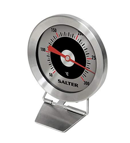 Salter 513 SSCR Cocina Horno Termómetro Acero Inoxidable, Mantenga la Comida Cocción + Temperatura de horneado, Lectura fácil, Plata, 2.5 x 6.2 x 8.5 cm