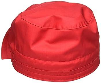 WonderWink Men s Wonderwork Unisex Scrub Cap Red One Size